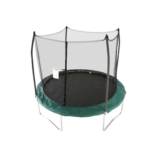 SWTC100G Skywalker Trampolines 10' Round Trampoline with Enclosure – Green