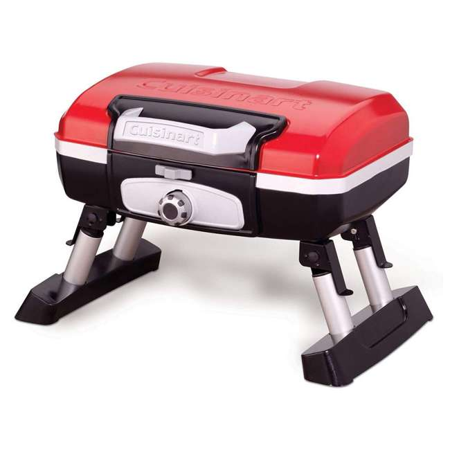 CGG-180T Petite Gourmet Mini Gas-Fueled Outdoor Grill, Red