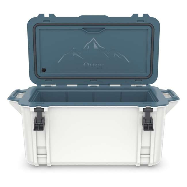 77-54868 Otterbox Venture Heavy Duty Outdoor Camping Fishing Cooler 65-Quarts, White/Blue 6