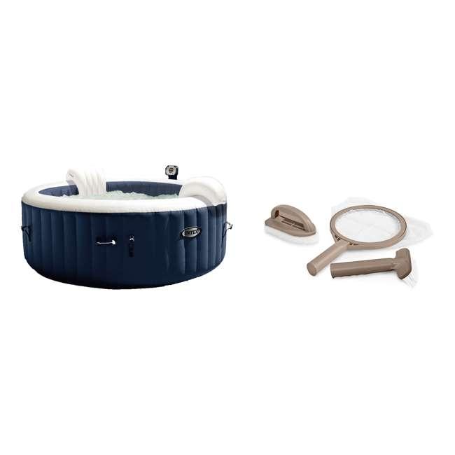28004E + 28405E Intex PureSpa 4 Inflatable Hot Tub + Intex Hot Tub Maintenance Kit