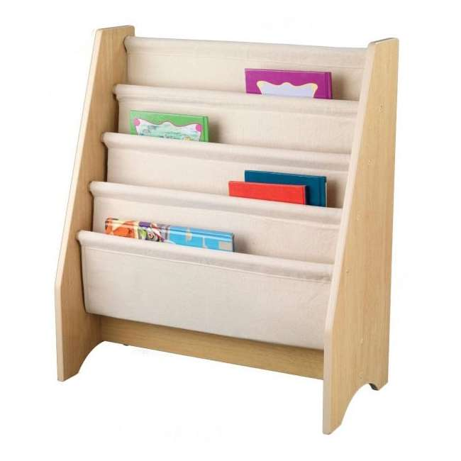 14221-U-A KidKraft Wood & Canvas Sling Shelf Kids Book Case Shelf - Natural (Open Box)