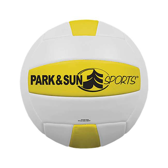 S-SPORT-STL-OR-U-A Park & Sun Sport Orange Portable Outdoor Volleyball Set w/ Bag(Open Box)(2 Pack) 2