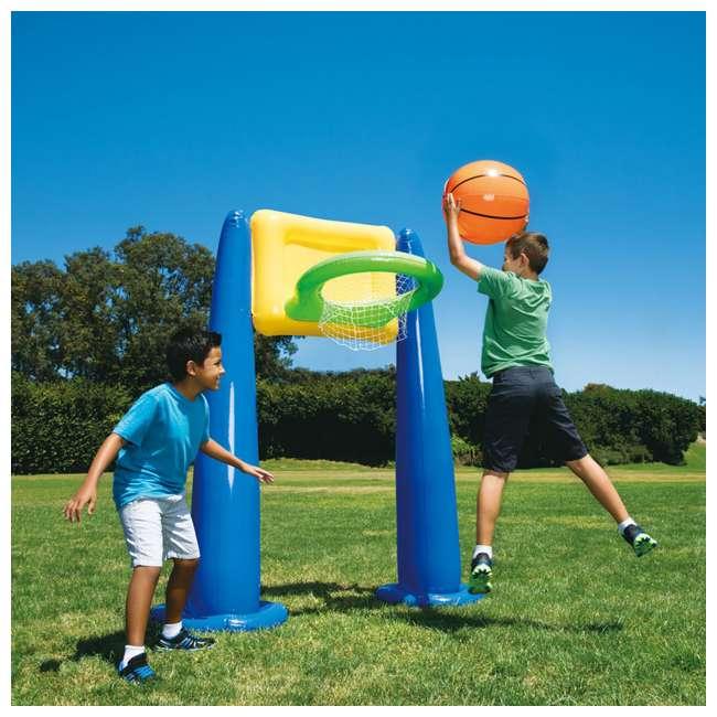 KF0062000167 Big Play Sports Jumbo Inflatable Pool Basketball Hoop Set 1