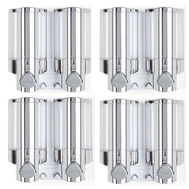 4 x 76245-1 Better Living 2 Chamber Shower Dispenser for Shampoo and Bodywash (4 Pack)
