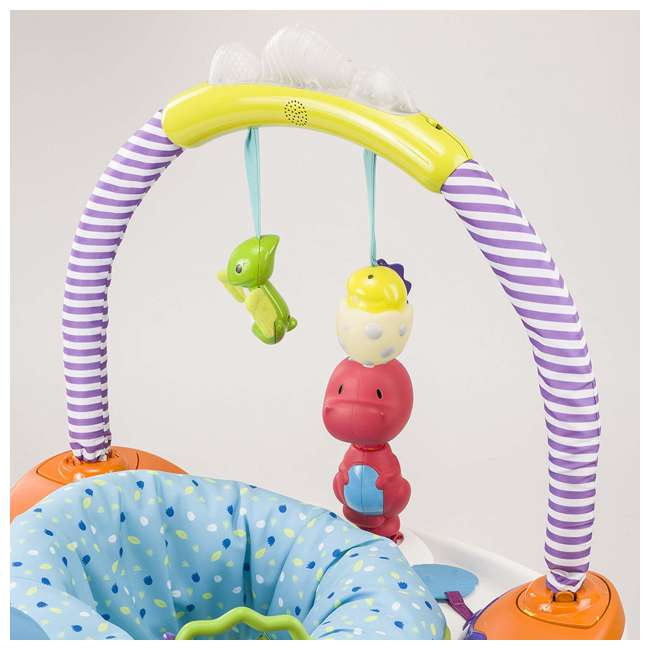 EVEN-61611769-U-A Evenflo Exersaucer Fast Fold & Go D is for Dino Baby Bouncer (Open Box) 5