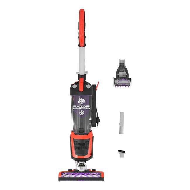 UD70355B-RB Dirt Devil Razor Pet Swivel Steer Upright Bagless Vacuum (Certified Refurbished)