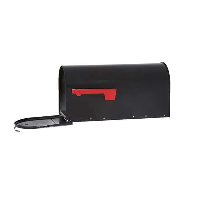 E1600B00-U-B Gibraltar Mailboxes Elite Steel Large Post Mount Mailbox, Black (Used) 5