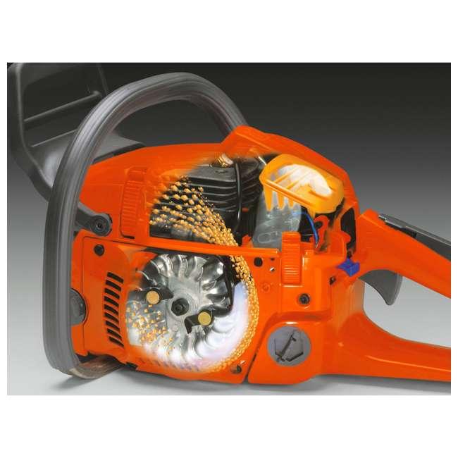 HV-CS-965030290 Husqvarna 455 Rancher 55.5cc 18 Inch 3/8 Pitch 3.49 HP Gas Chainsaw, Orange 2