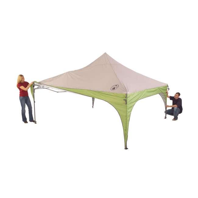 2000024115 Coleman 12 x 12 Foot Camping Tailgating Backyard Instant Sun Shelter (Damaged) 1
