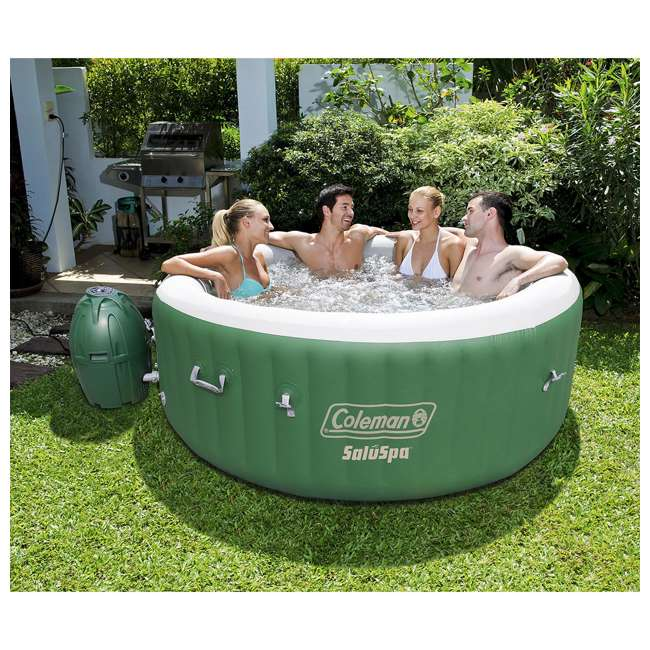 90363E-BW-U-A Coleman SaluSpa Lay-Z-Massage 77x28 Inch 6-Person Hot Tub (Open Box) (2 Pack) 3