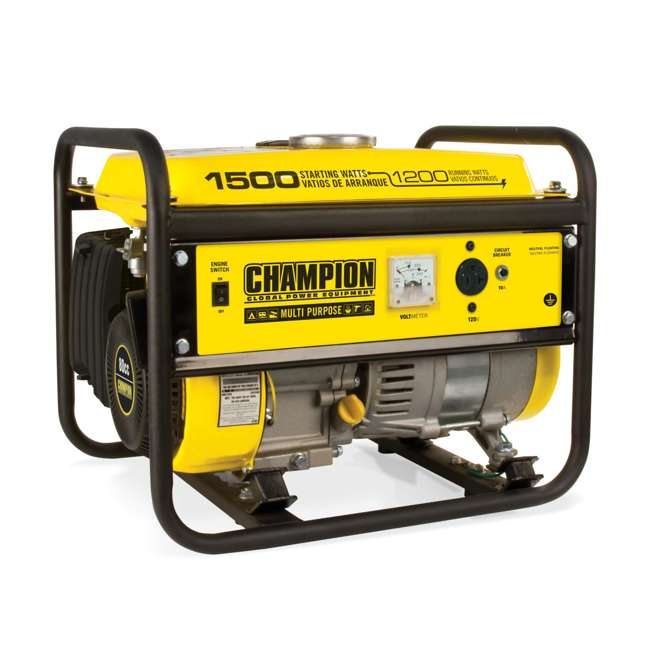 CPE-GN-42436-U-C Champion 1200 Watt Recoil Start Gas Powered Home & RV Generator (For Parts)