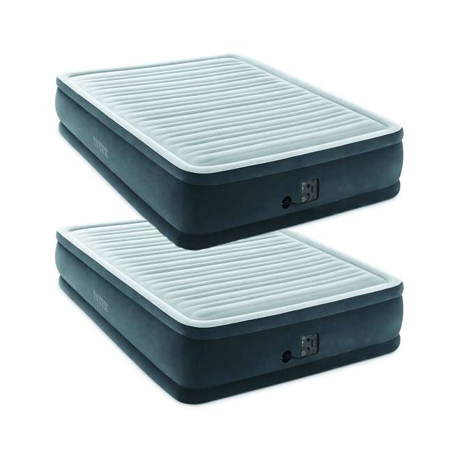 64413EP  Intex Dura Beam Plus Series Elevated Mattress Airbed with Built-In Pump, Queen (2 Pack)