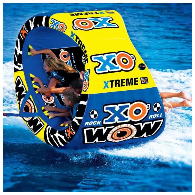 12-1030 Wow Sports 3-Person XO Extreme Towable Rider Tube, Blue 3