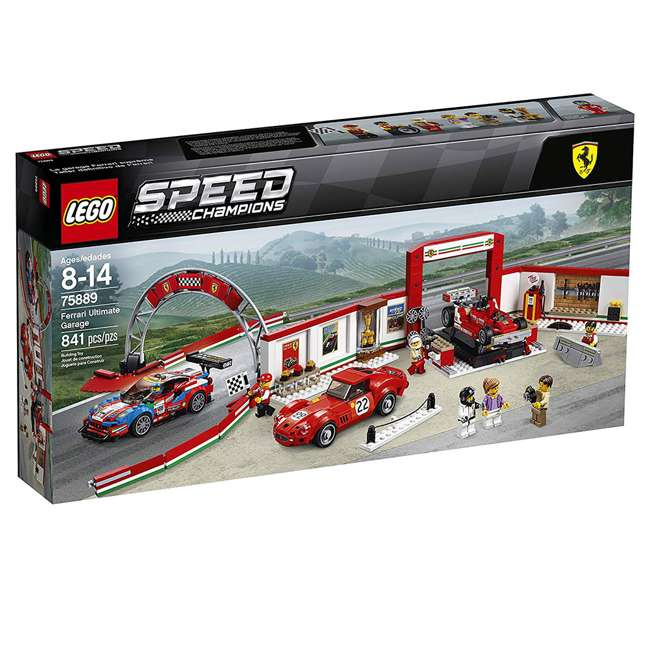 6212629 LEGO Speed Champions 841 Piece Ferrari Ultimate Garage Building Kit for Kids 7