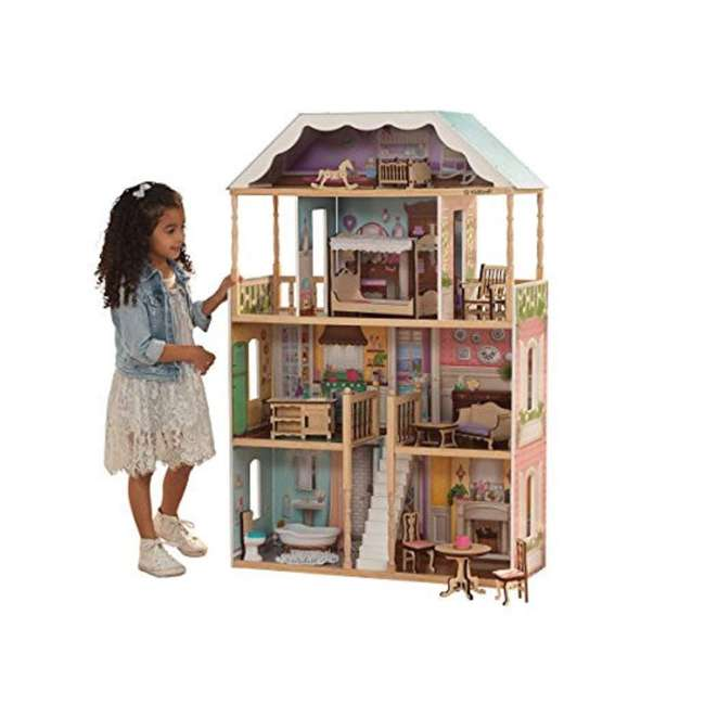 KDK-65956-U-A KidKraft Charlotte Children's Toy 4' Dollhouse w/ EZ Kraft Assembly (Open Box) 2