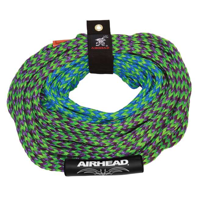 53-1329 + AHTR-42 Sportsstuff 1-4 Person Boat Lake Tube | Airhead Boat 2 Section Tube Tow Rope for 4 Rider 6