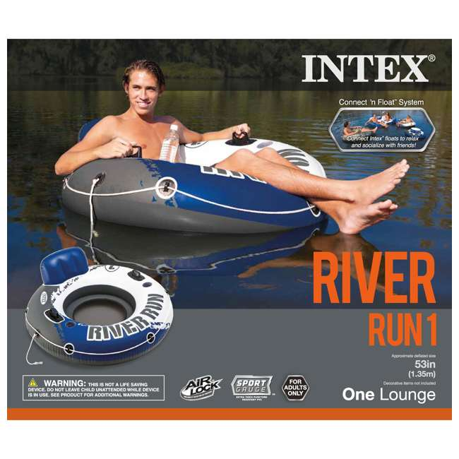 15 x 58825EP Intex River Run 1 Person Inflatable Floating Tube Raft for Lake/Pool/Ocean (15 Pack) 7