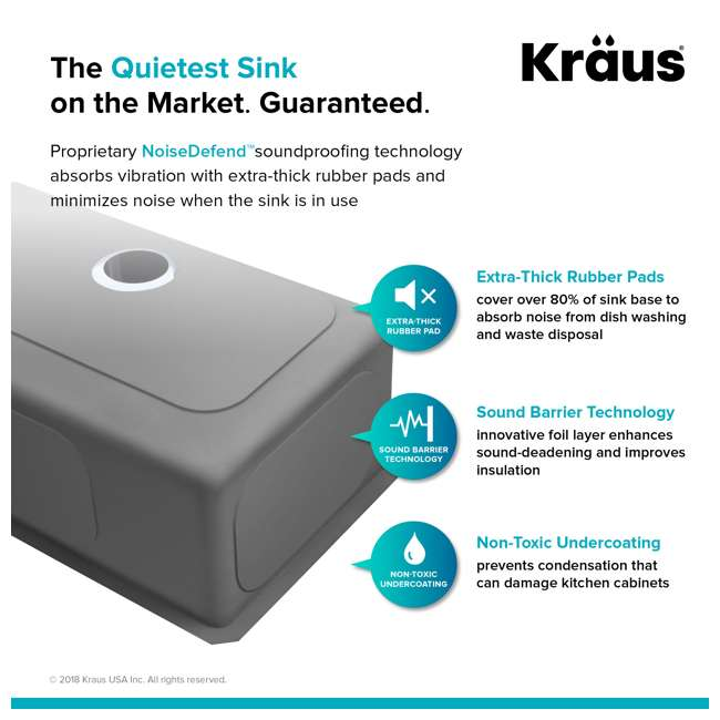 "KHU100-30-OB KRAUS Standart PRO 30""  Undermount Single Stainless Steel Sink (OPEN BOX) 7"