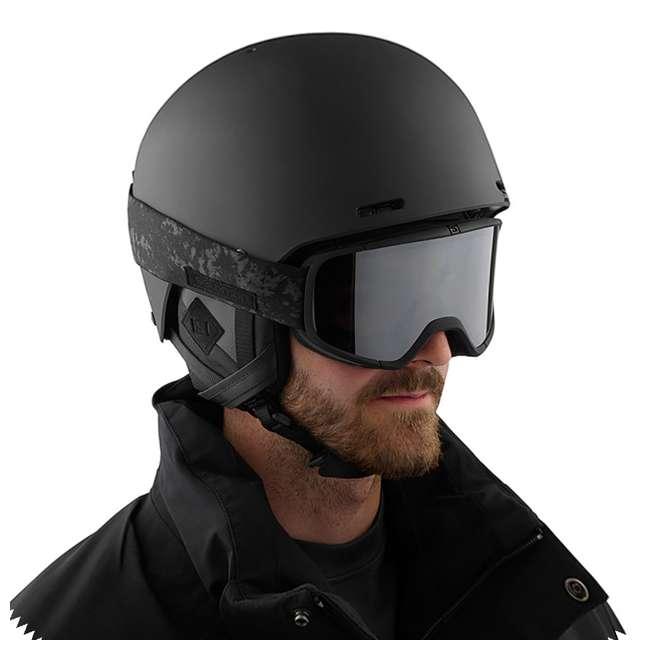 L39900900-U-B Salomon Four Seven Universal Mid Black Ski Snowboard Goggles Snow Gear (Used) 1