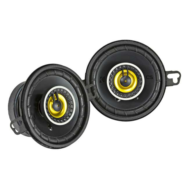 46CSC354 Kicker CS Series 3.5-Inch Car Speaker, Yellow (2 Pack)