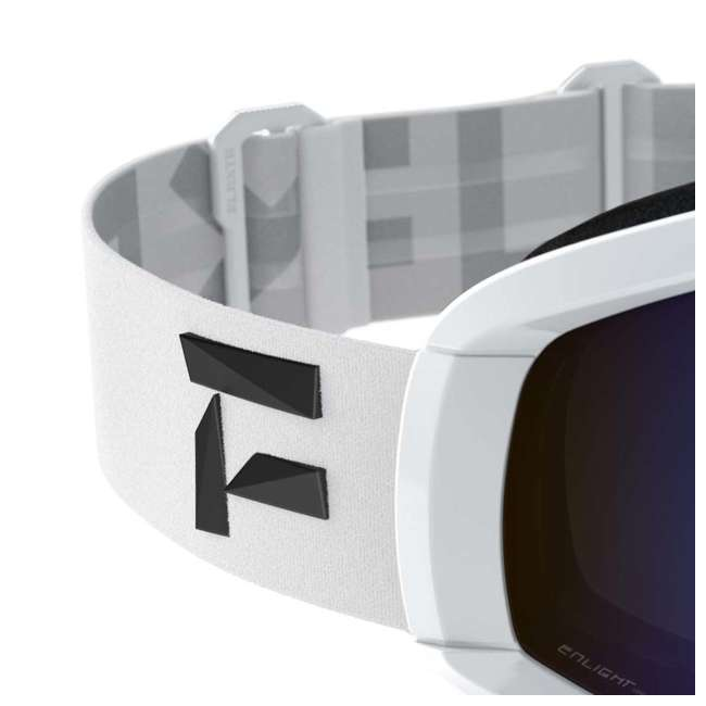 FX801002010ONE Flaxta Continuous Peripheral Vision Snowboard and Ski Goggles, White and Blue 2