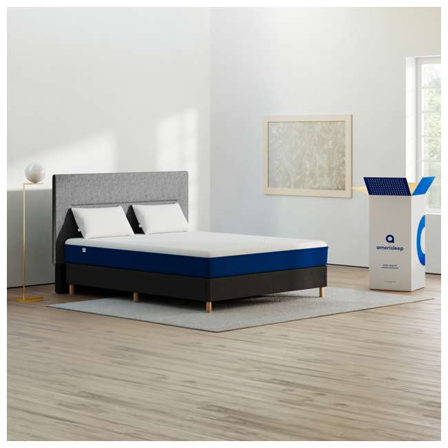 AS1-T Amerisleep AS1 Back and Stomach Sleeper Firm Memory Foam Bed Mattress, Twin 5