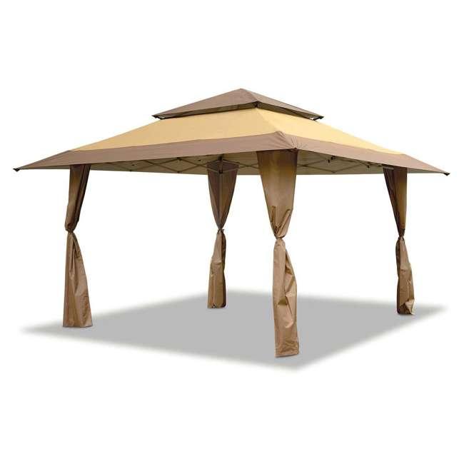 ZSB13GAZTB-U-A Z-Shade 13 x 13 Instant Canopy Outdoor Shelter Tan Brown (Open Box) (2 Pack)