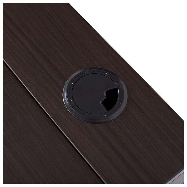 51251 Calico Designs 51251 Nook Desk with Storage Compartments, White/Dark Walnut 4