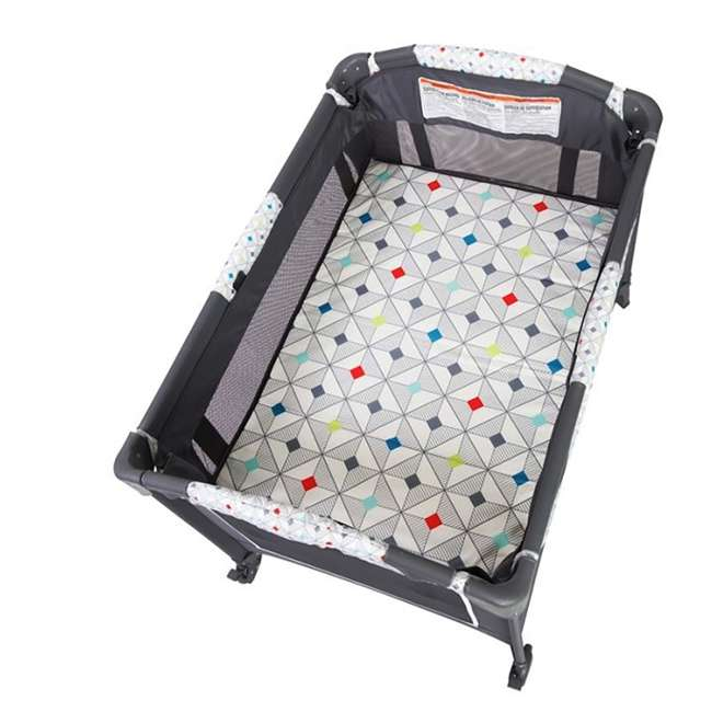 PY81A81I Baby Trend Lil Snooze Deluxe Nursery Center with Changing Table, Diamond Geo 3