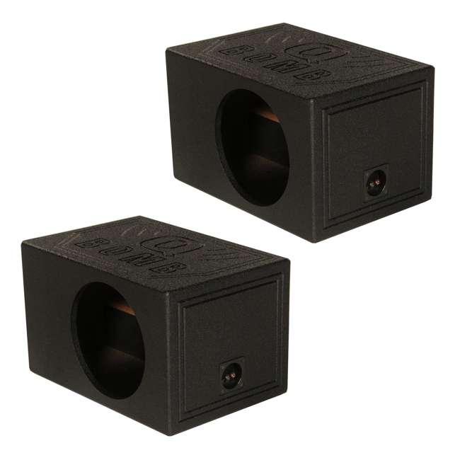 QBOMB10VL-SINGLE Q-Power QBOMB10VL Single 10-Inch Vented Subwoofer Box  (2 Pack)