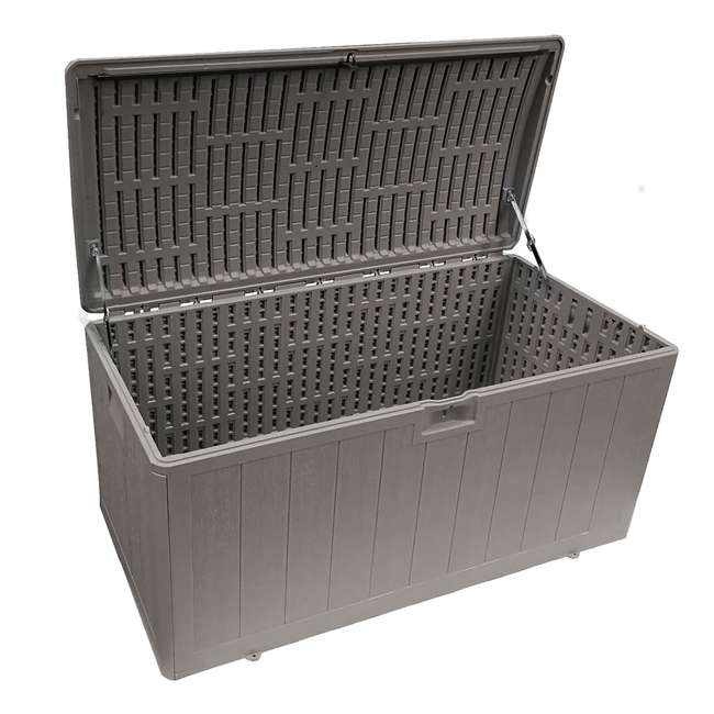 HDEDB105WLG-SC Plastic Development Group 105-Gallon Resin Outdoor Storage Deck Box, Driftwood 1