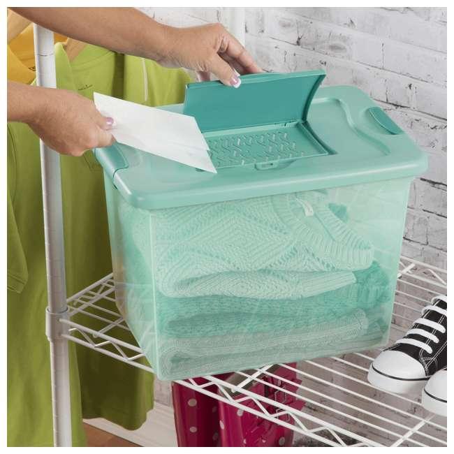 6 x 15057Y06-U-A Sterilite 25 Quart Fresh Scent Plastic Storage Box Container (Open Box) (6 Pack) 4