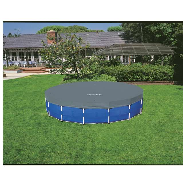 "28241EH-U-A Intex 15' x 48"" Above Ground Pool Set w/ Pump Cover&Ladder(Open Box) (2 Pack) 6"