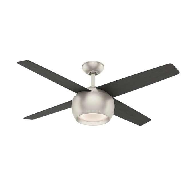 59333 Casablanca 159931 Valby 54 Inch 4 Blade Quiet LED Light Ceiling Fan, Matte Nickel