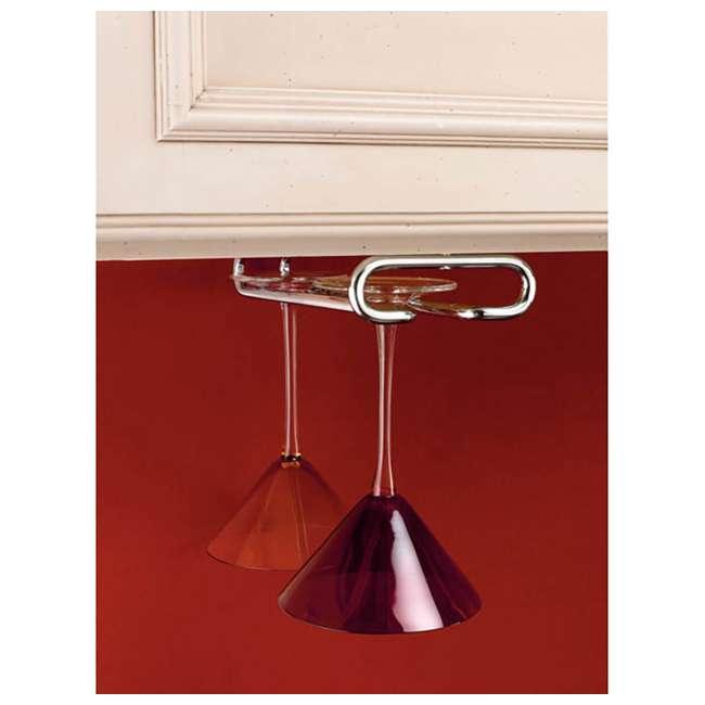 3 x 3150-11CR Rev-A-Shelf Inch Under Cabinet Wine Glass & Stemware Holder, Chrome (3 Pack) 2