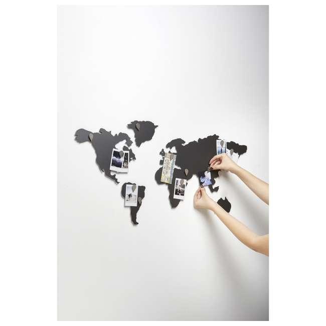 1008050-624 Umbra Mappit Metal World Map Wall Art Decor 6