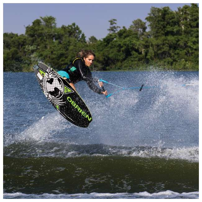2161228-MW + AHSR-3 O'Brien 51 Inch Sozo Pro Series Towable Kneeboard + Water Ski Wakeboard Rope 3