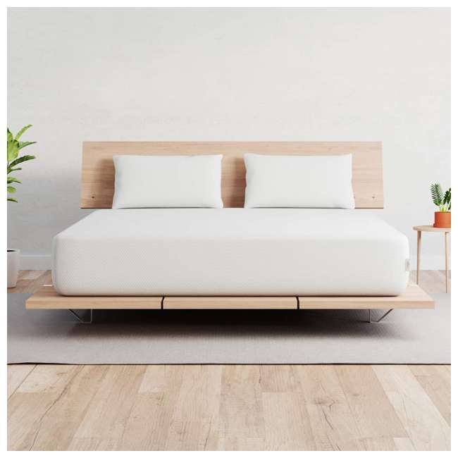 VY-TXL Vaya Sleep Soft Cool Sleep CertiPUR Twin XL Size Premium Mattress & Cover, White