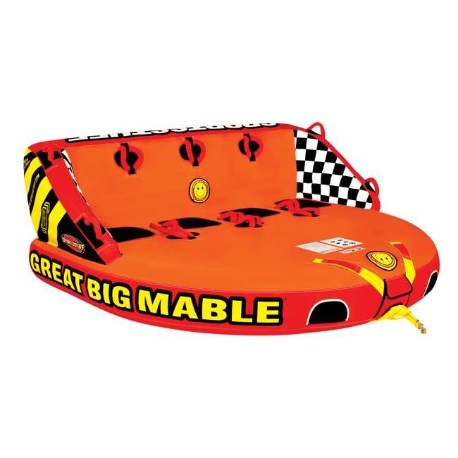 53-2218 Sportsstuff Big Mable Quadruple Rider Towable Tube (2 Pack) 1