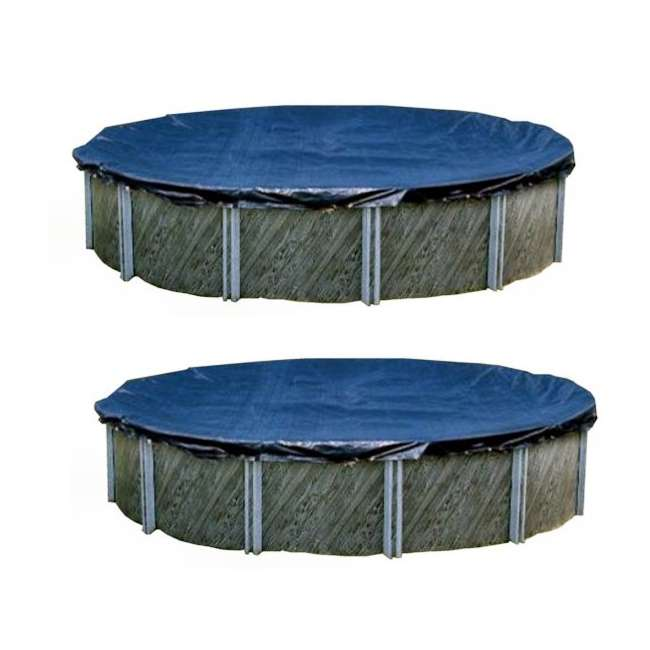 Winter Round Above Ground Swimming Pool Cover 18 39 Two Pair S18rd