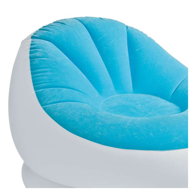 Strange Intex Inflatable Cafe Chaise Lounge Chair And Ottoman Blue Onthecornerstone Fun Painted Chair Ideas Images Onthecornerstoneorg