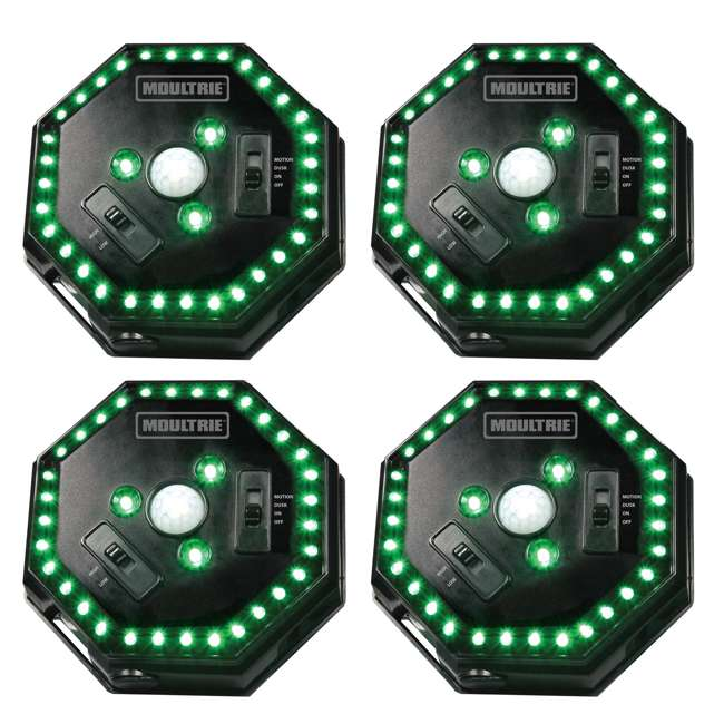4 x MFA-12651 Moultrie Motion-Activated LED Feeder Hog Lights w/ 30FT Radius (4 Pack)