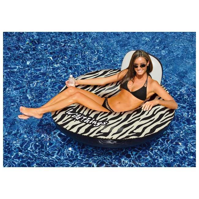 6 x 90552 Swimline Inflatable Zebra Print Float | 90552 (6 Pack) 2