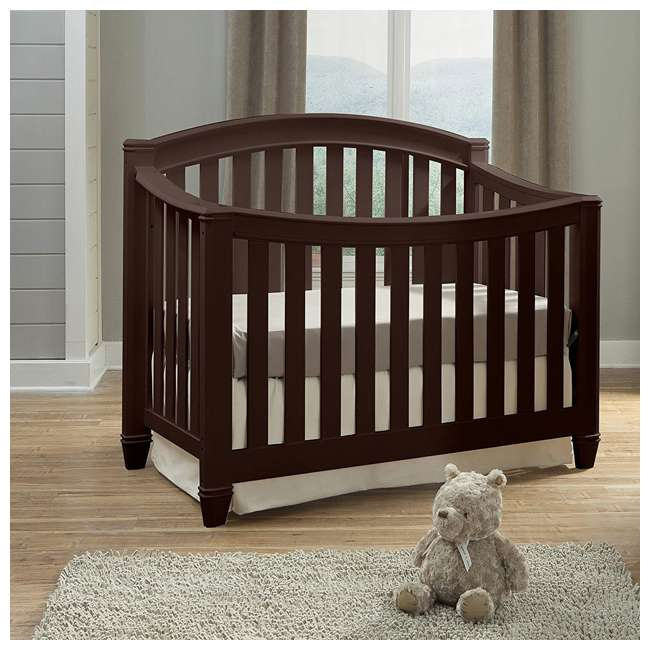 04565-309 + EM642-PHN1 Thomasville Kids Highlands Crib, Espresso & Sealy Posturepedic Mattress 4