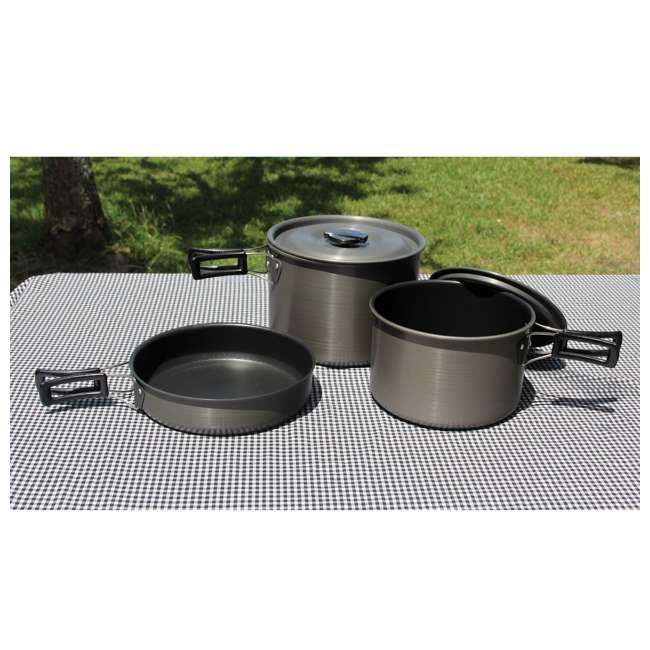TXSPT13414 Texsport Trailblazer Black Ice Hard Anodized Cookware Set (2 Pack) 3