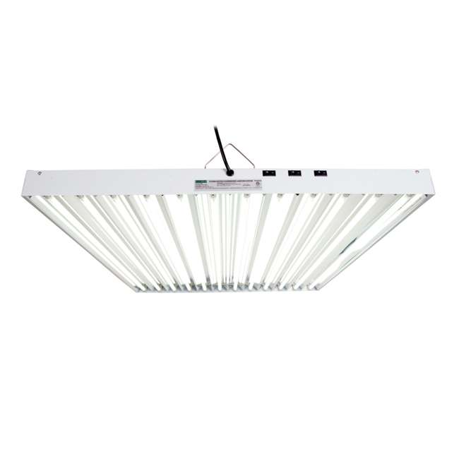 FLT412 Agrobrite T5 648W 4-Foot Grow Light Fixture with Lamps (2 Pack) 2