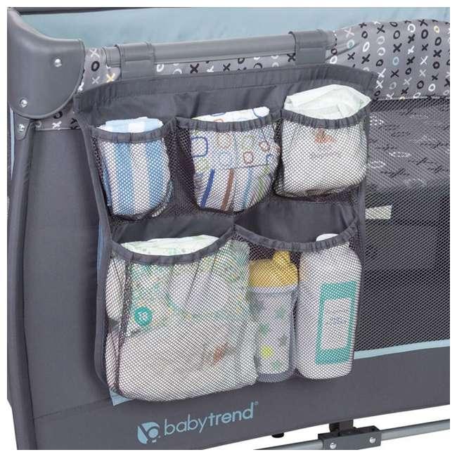 PY86B52B Baby Trend Trend-E Nursery Center Play Yard with Wheels, Starlight Blue (2 Pack) 5