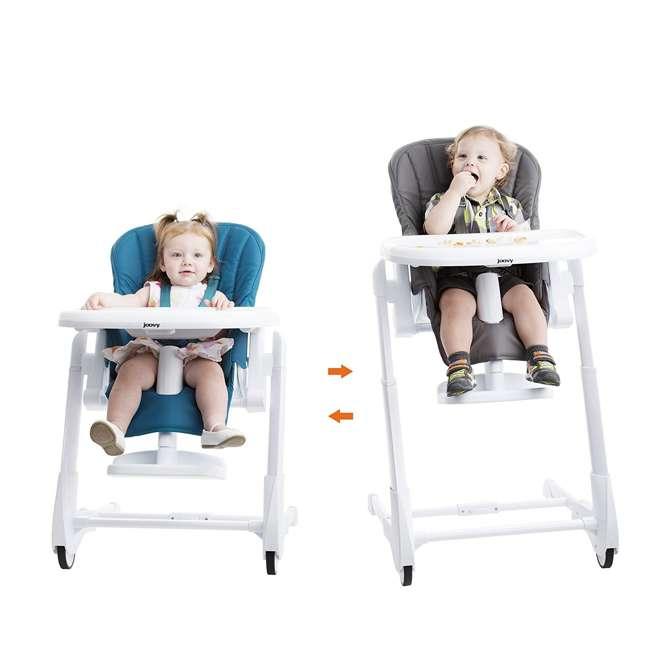 JVY-2129 Joovy Foodoo Adjustable Reclining Portable Baby High Chair, Gray 1