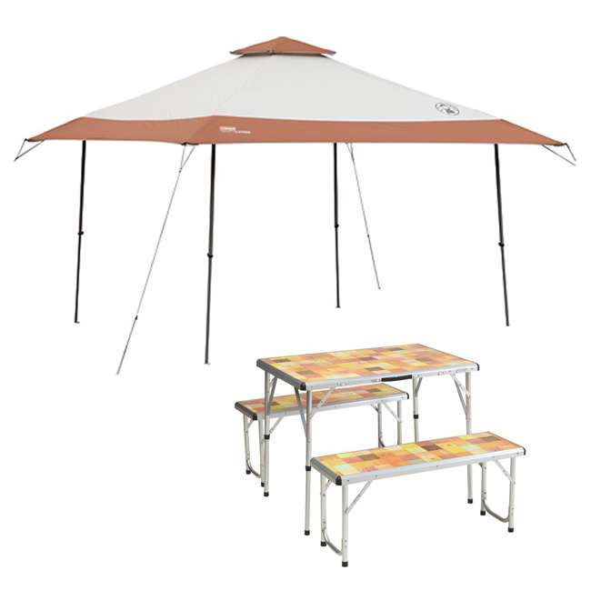 Coleman Instant Shelter C&ing Back Home Canopy 13u0027 x 13u0027 + 4 Person Portable Picnic Table  2000023972 + 2000020283  sc 1 st  VMInnovations & Coleman Instant Shelter Camping Back Home Canopy 13u0027 x 13u0027 + 4 ...