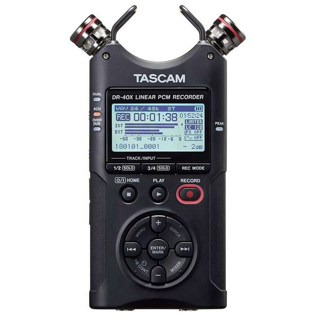 DR-40X + SD4-16GB-SAN + TH02-B Tascam 4-Track Digital Audio Recorder + Memory Card + Home & Studio Headphones 2